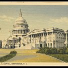 Vintage 1930's Linen Postcard The U.S. Capitol Washington D.C. Curt Teich & Co. Chicago
