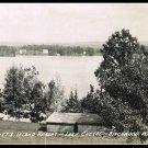 Vintage Postcard View Of Garbutt's Island Resort Lake Chetac Birchwood Wisconsin 1946