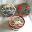 Collectible Tins Currier & Ives Terry Redlin Heading Home Olive Can Company Colorful Leaf