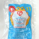 Retired 1999 Nook The Husky Dog Ty Teenie Beanie Baby #11 in Package McDonald's Toy Animal
