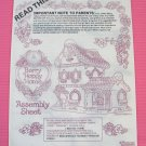 Manual 12 Page Booklet Instructions Large Strawberry Shortcake Doll House