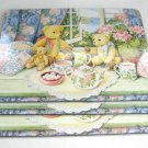 Teddy Bears Hardboard Placemats Lap Trays Tea Party Set of 3 Strong Heavy Duty