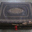 Antique Embossed Ornate Box Red Bakelite Handles 1900's Vintage