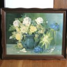 Vintage Print in Fancy Wood Frame Artist Rudolf Stoitzner Floral 23 x 18 Artwork Flowers