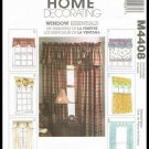 Home Decorating McCall's Sewing Pattern Window Essentials Treatments Valances M4408