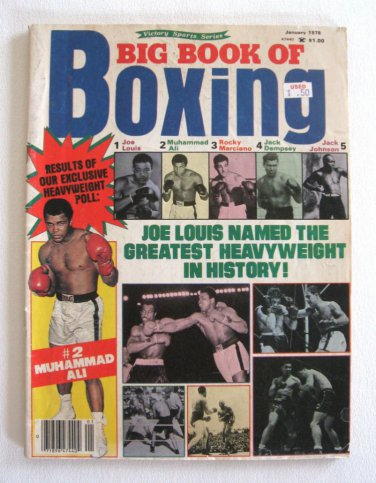 Big Book of Boxing Magazine Muhammad Ali Cover Vintage January 1978
