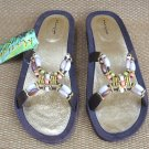 Women Fancy Beaded Sandals By Marigo Size XL