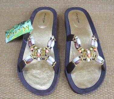 Women Fancy Beaded Sandals By Marigo Size XL