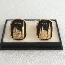 Black & Gold St. Stephens Cathedral Vienna Austria Wien Cufflinks Vintage