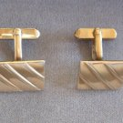 Gold Cufflinks By Designer Swank Retro Vintage 1950s