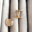 Classic Round Gold Cufflinks By Designer Swank Vintage 1950s