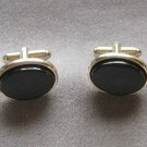Black Onyx Cufflinks By Designer Shields Fifth Avenue Vintage 1950s