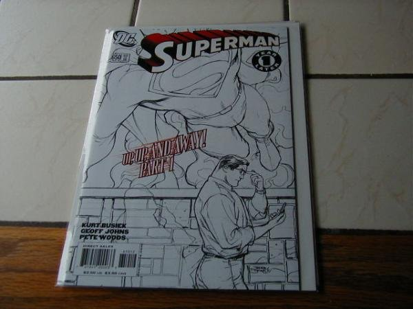 SUPERMAN #650 NM BLACK AND WHITE COVER