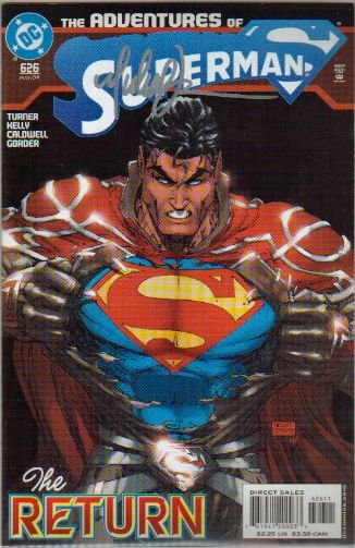 ADVENTURES OF SUPERMAN #626 SIGNED BY M. TURNER