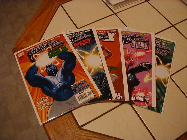 CAPTAIN UNIVERSE COMPLETE SET 5 OF PARTS