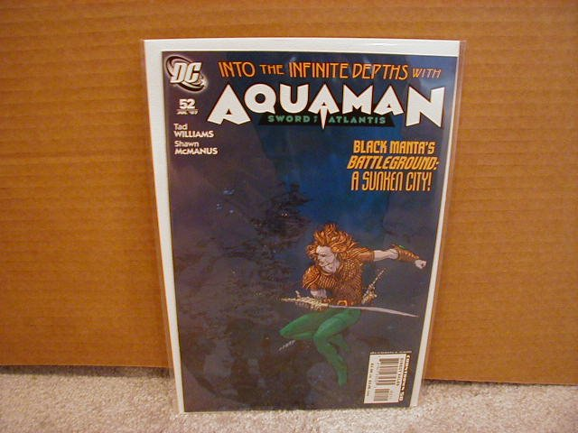 AQUAMAN SWORD OF ATLANTIS #52 NM