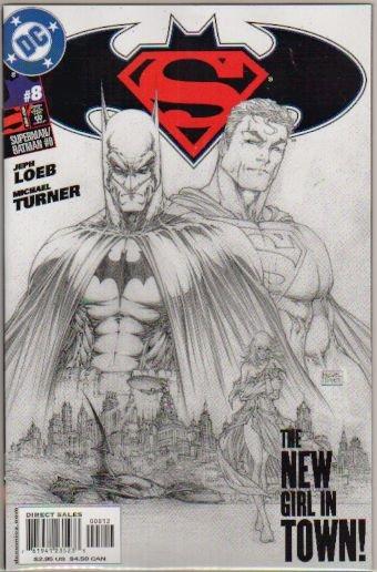 SUPERMAN BATMAN #8 VARIANT SKETCH COVER NM