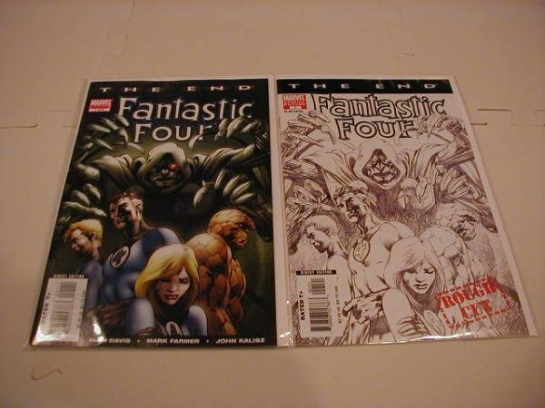 FANTASTIC FOUR THE END #1 NM  SET OF BOTH VERSIONS