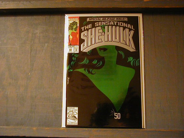 SENSATIONAL SHE-HULK # 50 GREEN FOIL COVER VF/NM