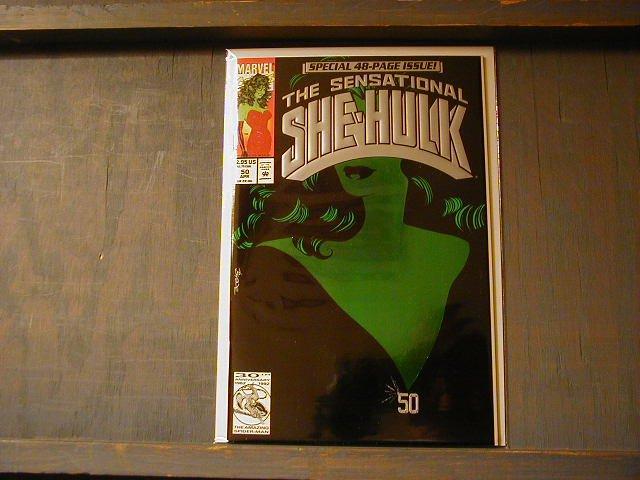 SENSATIONAL SHE-HULK # 50 GREEN FOIL COVER VF/NM