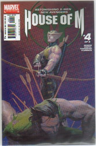HOUSE OF M #4 NM ** HAWKEYE IS BACK**
