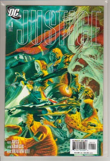 JUSTICE #1 NM VILLAINS COVER ALEX ROSS