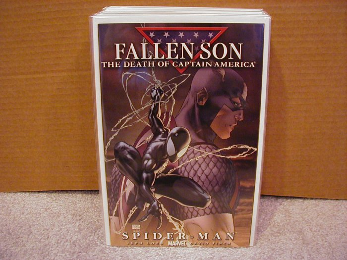 FALLEN SON THE DEATH OF CAPTAIN AMERICA SPIDER-MAN COVER A NM
