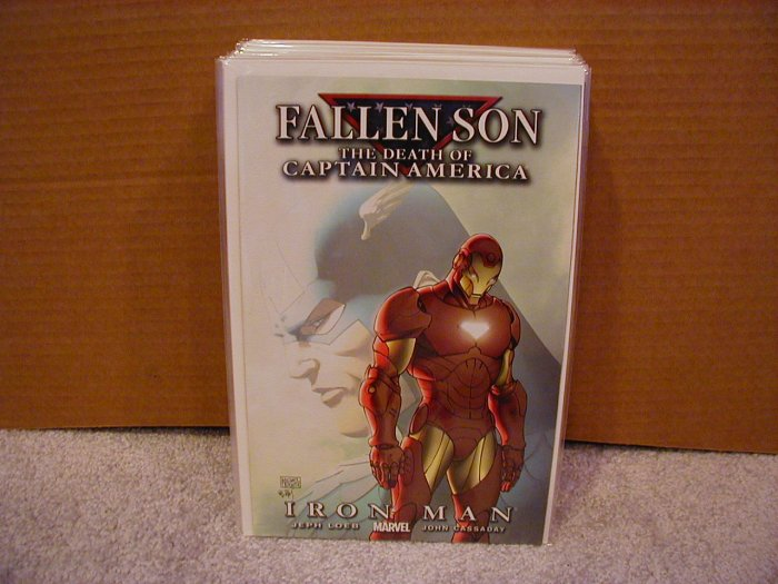 FALLEN SON THE DEATH OF CAPTAIN AMERICA IRON MAN COVER B NM