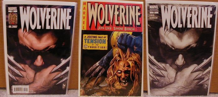 WOLVERINE #55 NM (2007)  SET OF THREE ALL 1ST PRINTINGS INCLUDES HARD TO GET LAND VARIANT