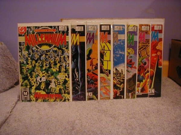 MILLENNIUM #1-8 COMPLETE SET VF/NM **FREE SHIPPING** AND BONUS  READ BELOW**