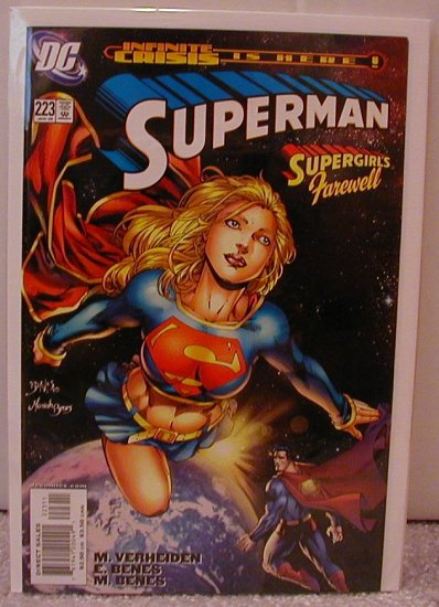 SUPERMAN #223 NM  SUPERGIRL- INFINITE CRISIS