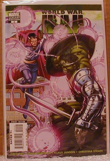 WORLD WAR HULK #4  VARIANT COVER NM