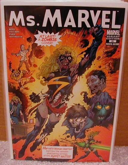 MS. MARVEL #20  ZOMBIE VARIANT 1ST PRINT NM