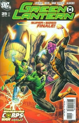 GREEN LANTERN #25 SUPERSIZE FINAL SINESTRO WARS NM (2008)