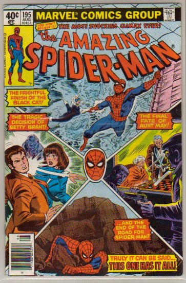 AMAZING SPIDER-MAN #195 VG+ 2ND BLACK CAT
