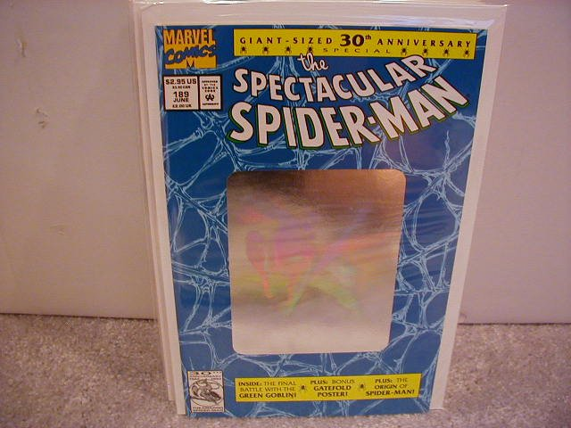 SPECTACULAR SPIDER-MAN #189 VF/NM �HOLOGRAM COVER & THE GREEN GOBLIN