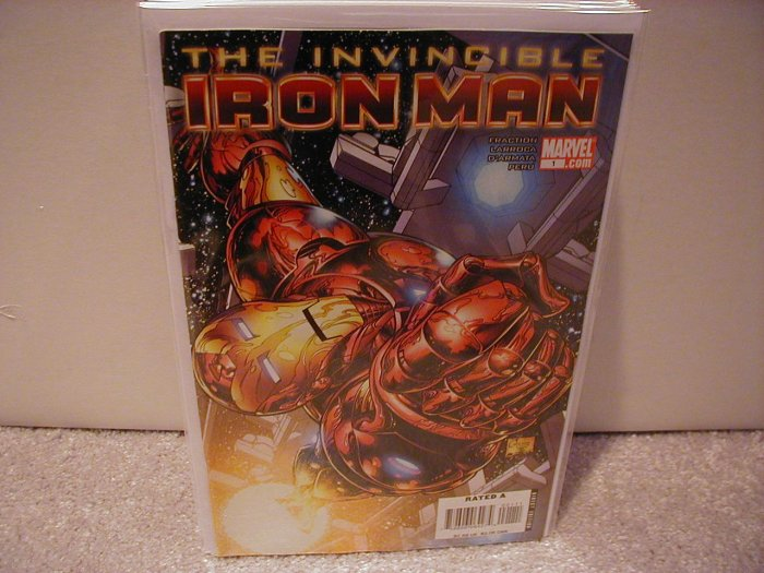 INVINCIBLE IRON MAN # 1 NM (2008) (COVER A)