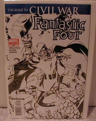 FANTASTIC FOUR #537  NM 2ND PRINT VARIANT COVER-CIVIL WAR-THOR