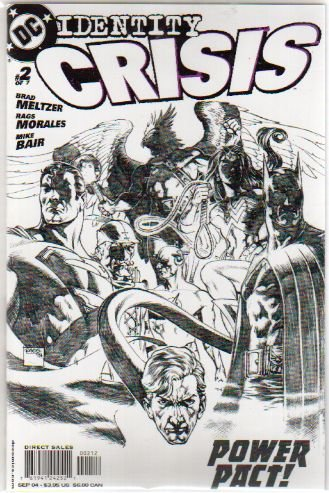 IDENTITY CRISIS #2 VF/NM SKETCH VARIANT 2ND PRINT