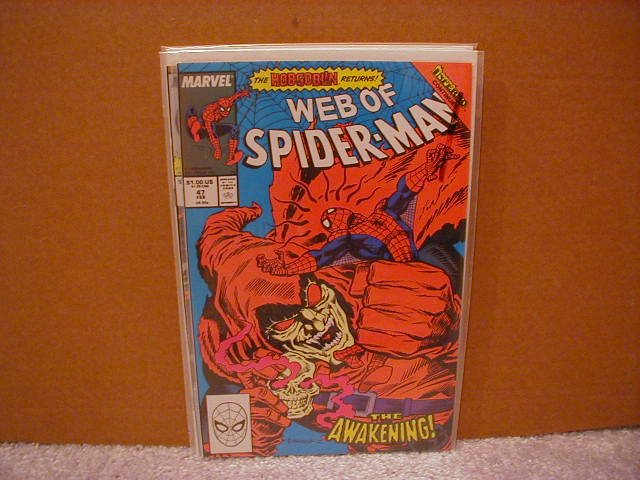 WEB OF SPIDER-MAN #47 VF+ **HOBGOBLIN**