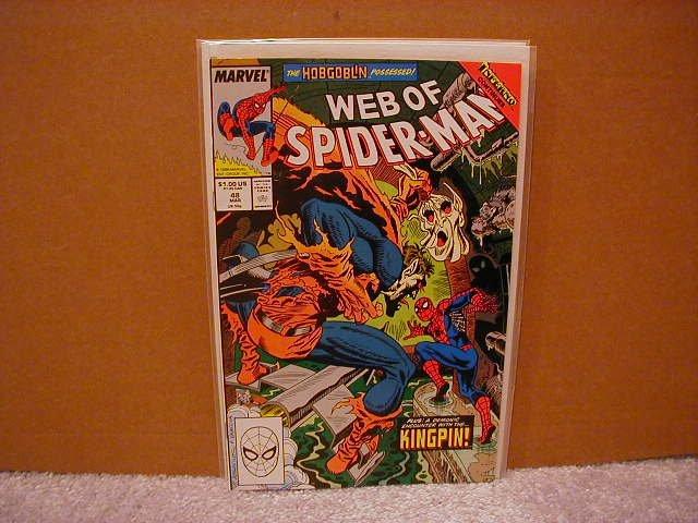 WEB OF SPIDER-MAN #48 VF/NM **HOBGOBLIN II-ORIGIN**