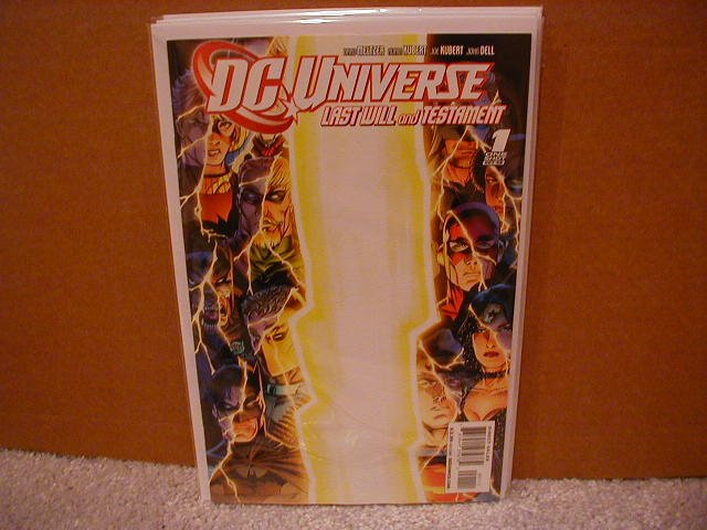 DC UNIVERSE LAST WILL AND TESTAMENT ONE-SHOT  NM (2008) �A� COVER