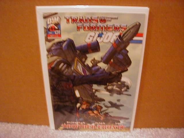 TRANSFORMERS  GI JOE #1 VF/NM   *DW* DIVIDED FRONT