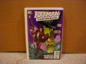 BATMAN CONFIDENTIAL #7 NM  JOKER'S ORIGIN STARTS HERE!!