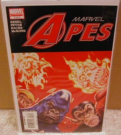 MARVEL APES #3 NM (2008)THE BOOK NOBODY IS TALKING ABOUT!!