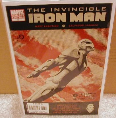 INVINCIBLE IRON MAN #6 NM (2008) *VARIANT COVER-1ST PRINT*