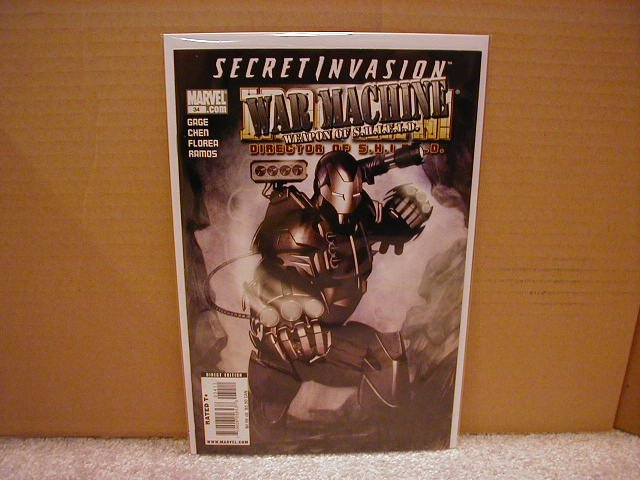 IRON MAN DIRECTOR OF SHIELD #34 NM (2008) SECRET INVASION- WAR MACHINE