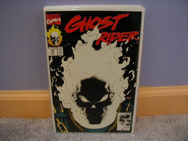 GHOST RIDER (1990) #15 BLACK GLOWING COVER