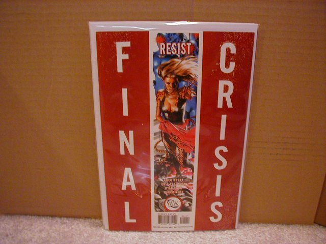 "FINAL CRISIS RESIST #1 NM (2008) ""A"" COVER"