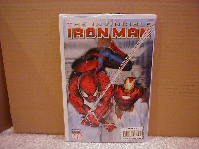 INVINCIBLE IRON MAN #7 NM (2008) *SPIDER-MAN*